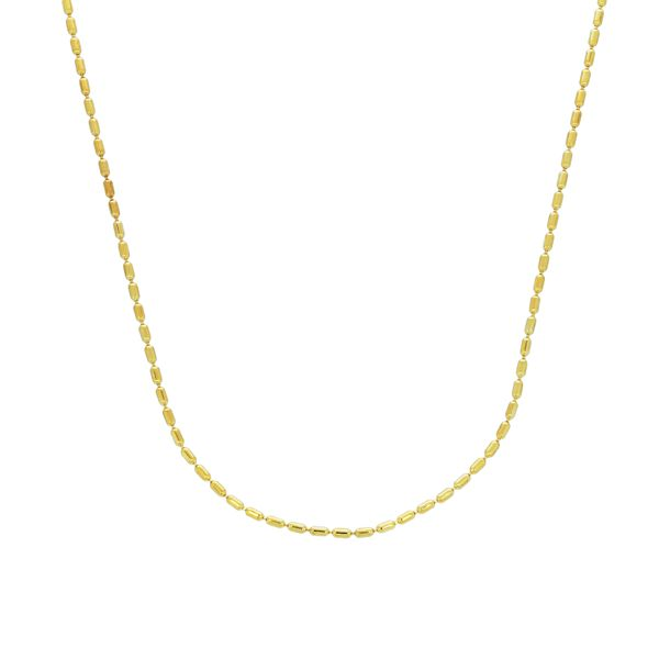 Mojo Yellow Gold Plated Bubble Link Chain - 40Cm Georgies Fine Jewellery Narooma, New South Wales