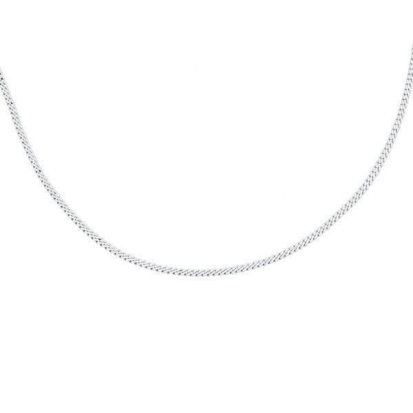 Silver Diamond Cut Curb Chain - 55cm Georgies Fine Jewellery Narooma, New South Wales