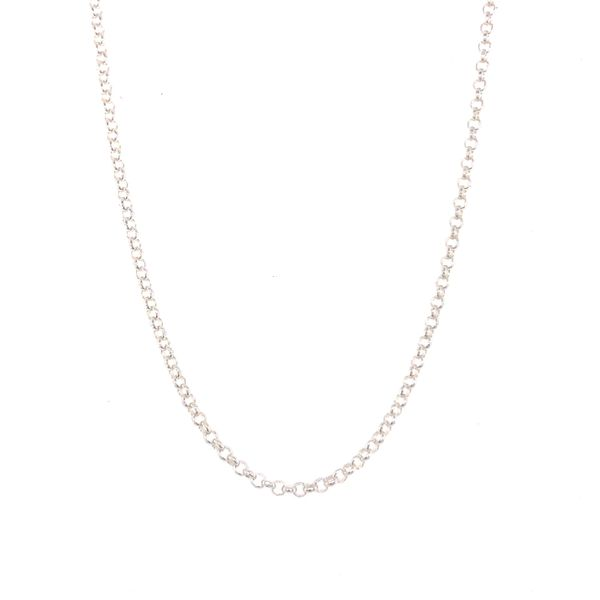 Silver Half Round Belcher Chain 45cm Georgies Fine Jewellery Narooma, New South Wales