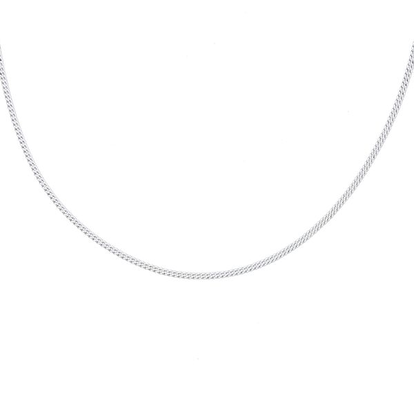 Silver Curb Fine Chain - 40cm Georgies Fine Jewellery Narooma, New South Wales