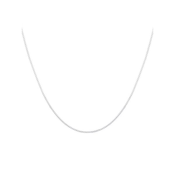 Silver Diamond Cut Curb Chain 55cm Georgies Fine Jewellery Narooma, New South Wales