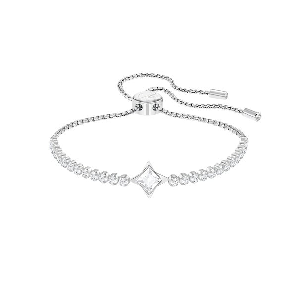 Swarovski Rhodium Plated Subtle Star Bracelet Georgies Fine Jewellery Narooma, New South Wales