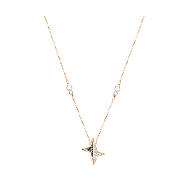 Swarovski Rose Gold Plated Halve Star Shaped Necklace Georgies Fine Jewellery Narooma, New South Wales