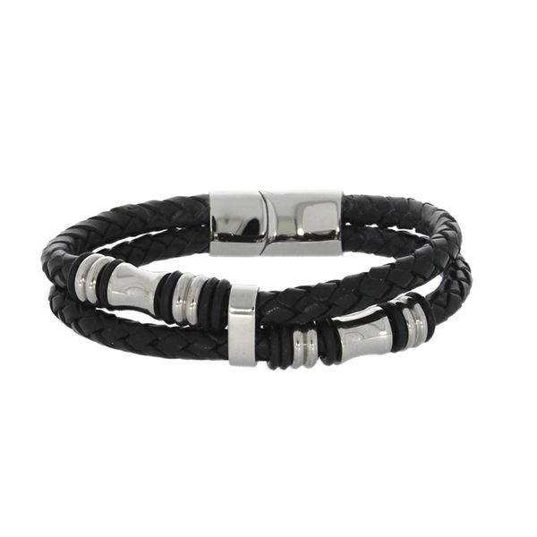 Round Braided Leather Bands Bracelet Georgies Fine Jewellery Narooma, New South Wales