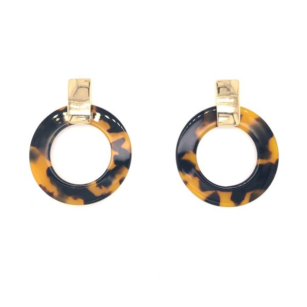 Onatah Tortoise Shell Gold Hoops Georgies Fine Jewellery Narooma, New South Wales