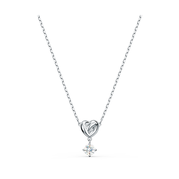 Swarovski Rhodium Plated Lifelong Heart Pendant Georgies Fine Jewellery Narooma, New South Wales