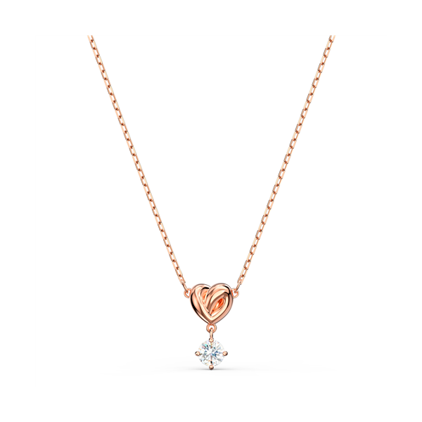 Swarovski Rose Gold Plated Lifelong Heart Pendant Georgies Fine Jewellery Narooma, New South Wales