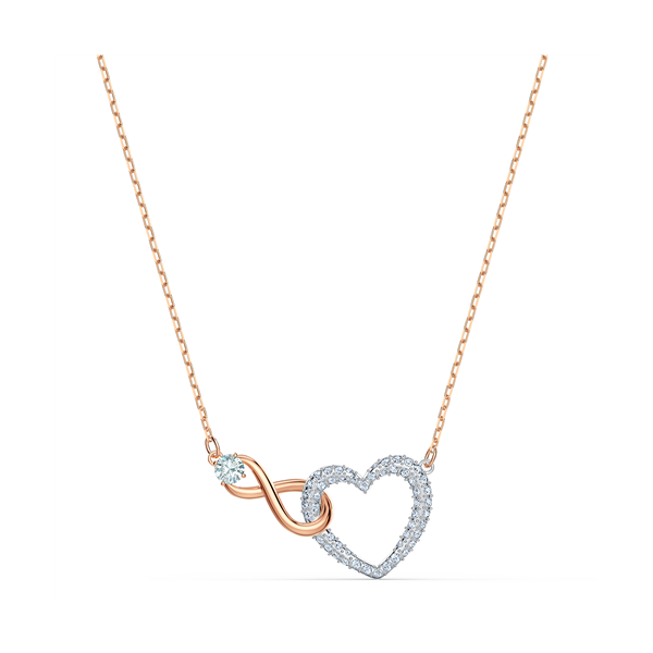 Swarovski Rhodium Plated Infinity Necklace Georgies Fine Jewellery Narooma, New South Wales
