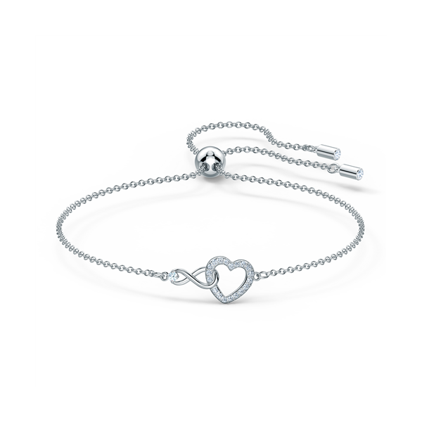 Swarovski Rhodium Plated Infinity Bracelet Simple Georgies Fine Jewellery Narooma, New South Wales