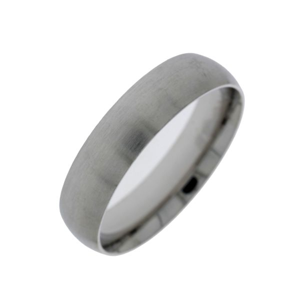 Stainless Steel Half Round Comfort Ring 6MM - Matte Finish Size 12/Y Image 2 Georgies Fine Jewellery Narooma, New South Wales