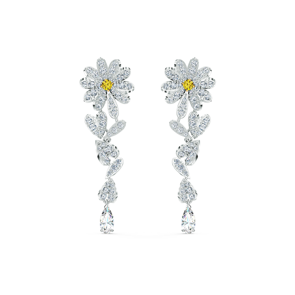 Swarovski Mixed Metal Eternal Flower Earrings Georgies Fine Jewellery Narooma, New South Wales
