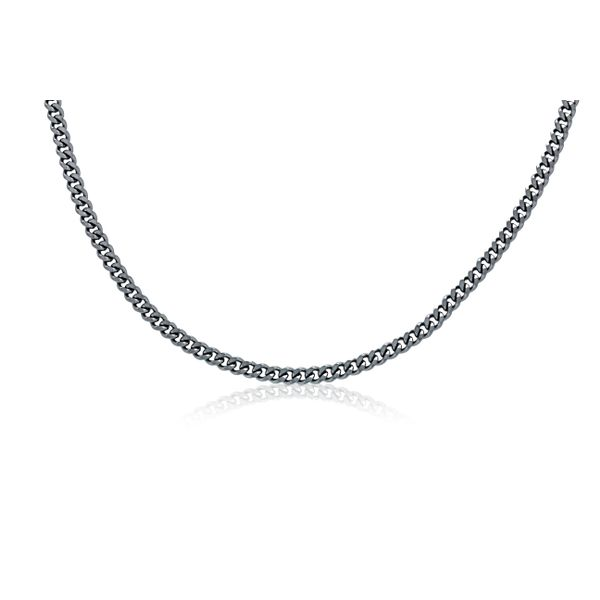 Stainless Steel Diamond Cut Curb Chain - 60Cm Georgies Fine Jewellery Narooma, New South Wales