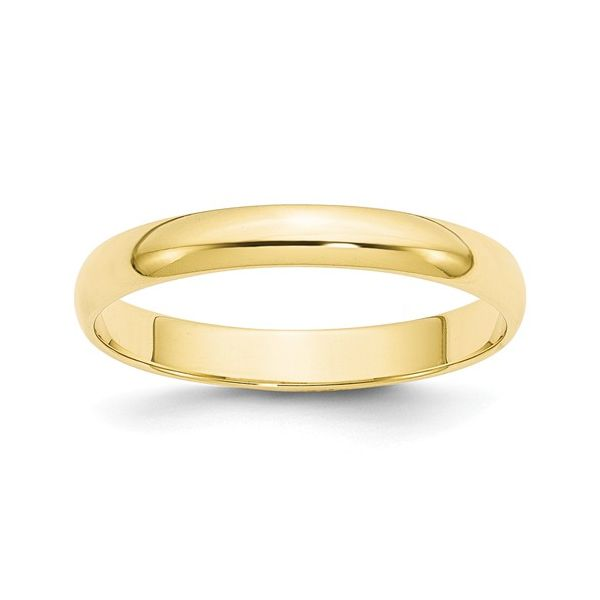 10k Yellow Gold 3MM Lightweight Wedding Band Goldrush Jewelers Marion, OH