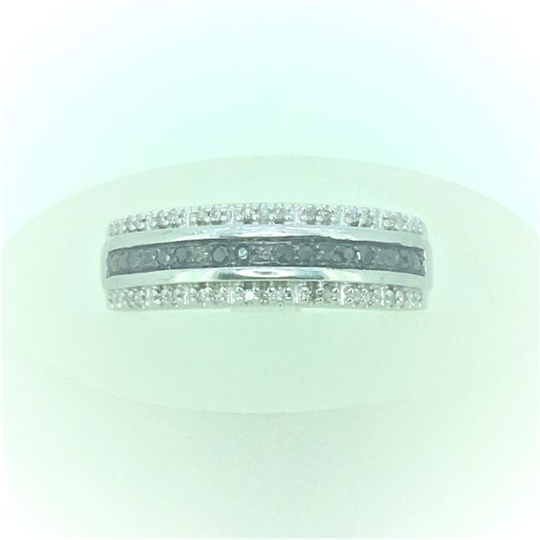 Sterling SIlver ladies Band with Black Diamonds Goldrush Jewelers Marion, OH