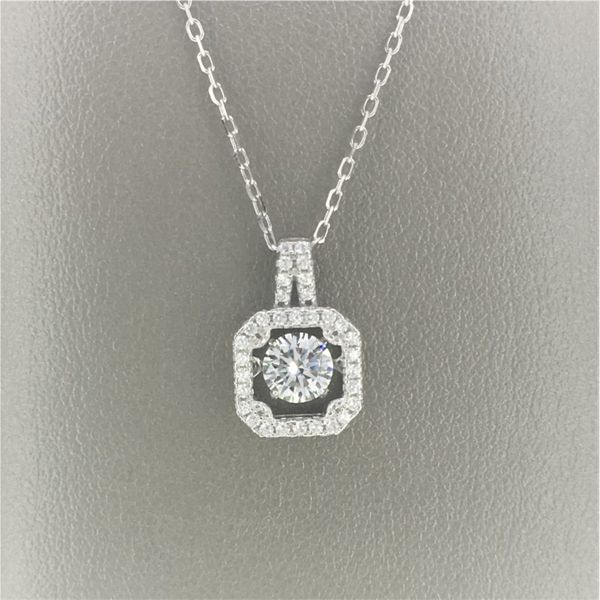 Sterling Silver Dancing CZ Pendant Goldrush Jewelers Marion, OH