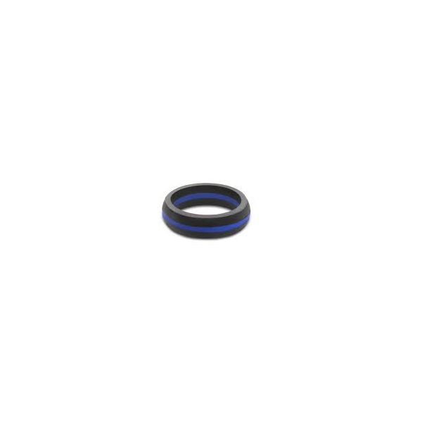 QALO WOMEN'S THIN BLUE LINE SILICONE RING Goldrush Jewelers Marion, OH