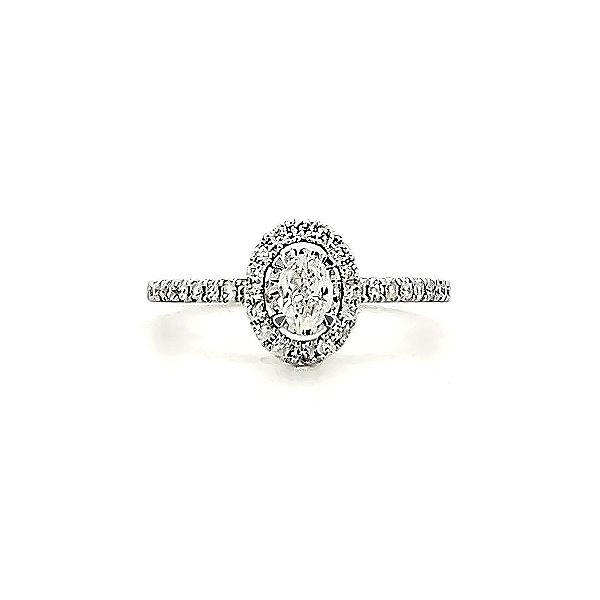 Oval Halo Engagement Ring Goldstein's Jewelers Mobile, AL