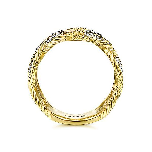 Gabriel Braided Diamond Band Image 2 Goldstein's Jewelers Mobile, AL