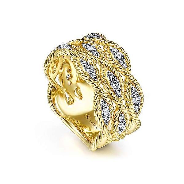Gabriel Braided Diamond Band Image 3 Goldstein's Jewelers Mobile, AL