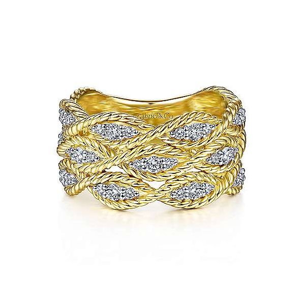Gabriel Braided Diamond Band Goldstein's Jewelers Mobile, AL