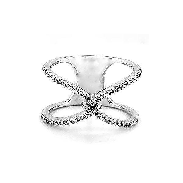 Diamond Criss Cross Ring Goldstein's Jewelers Mobile, AL