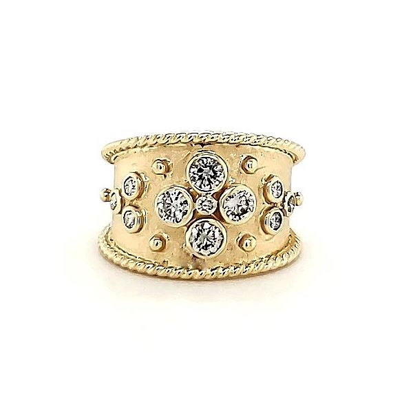 Wide Diamond Band Style Ring Goldstein's Jewelers Mobile, AL