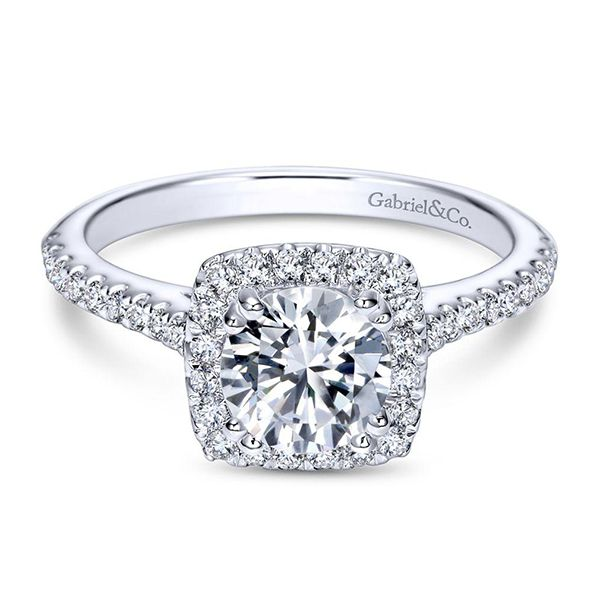 Gabriel Michaela Diamond Engagement Ring Goldstein's Jewelers Mobile, AL