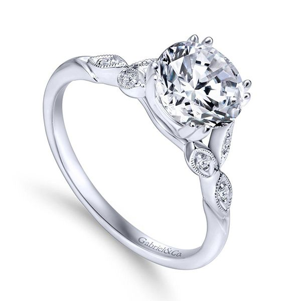 Gabriel Celia Diamond Engagement Ring Image 2 Goldstein's Jewelers Mobile, AL