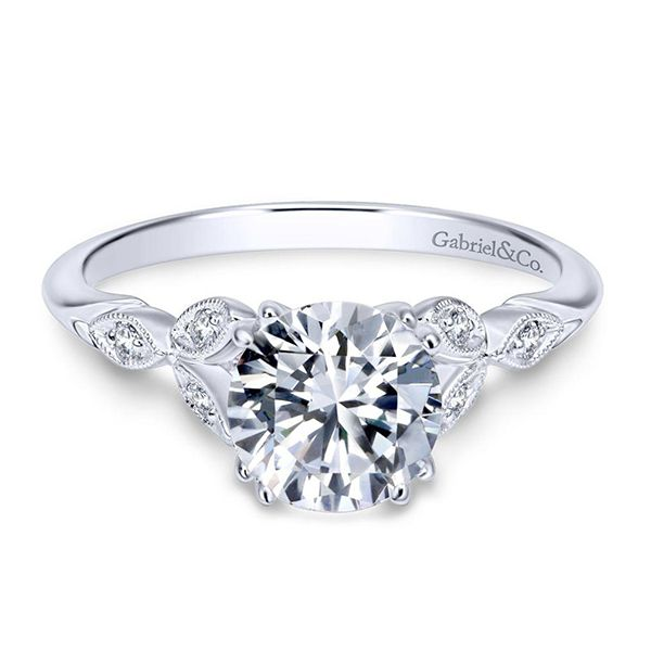 Gabriel Celia Diamond Engagement Ring Goldstein's Jewelers Mobile, AL