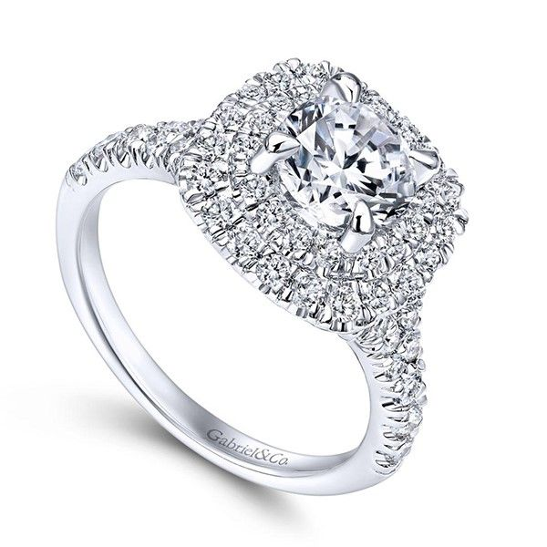 Gabriel Lexie Diamond Engagement Ring Image 2 Goldstein's Jewelers Mobile, AL
