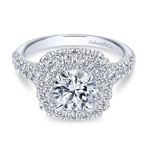 Gabriel Lexie Diamond Engagement Ring Goldstein's Jewelers Mobile, AL