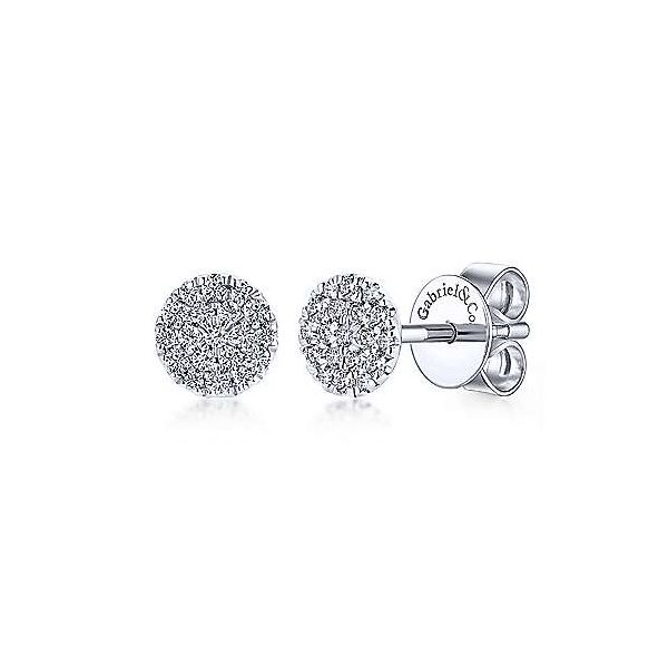 Gabriel Pave Diamond Earrings Goldstein's Jewelers Mobile, AL