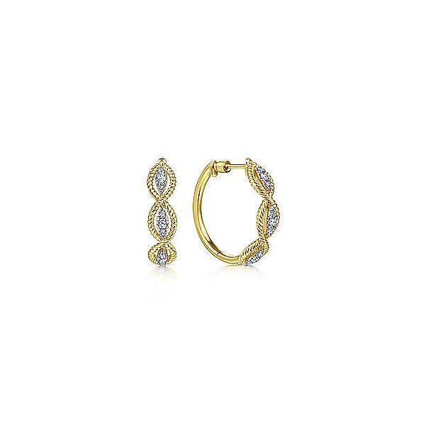 Gabriel Twisted Hoop Earrings Goldstein's Jewelers Mobile, AL
