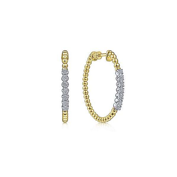 Gabriel Bujukan Diamond Hoop Earrings Goldstein's Jewelers Mobile, AL