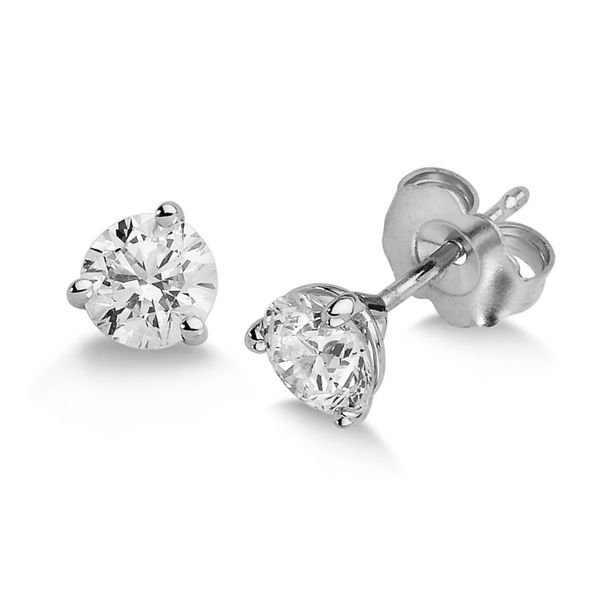 Diamond Solitaire Earrings Goldstein's Jewelers Mobile, AL