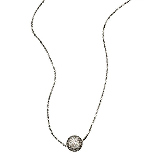 Sethi Pave Diamond Ball Necklace Goldstein's Jewelers Mobile, AL