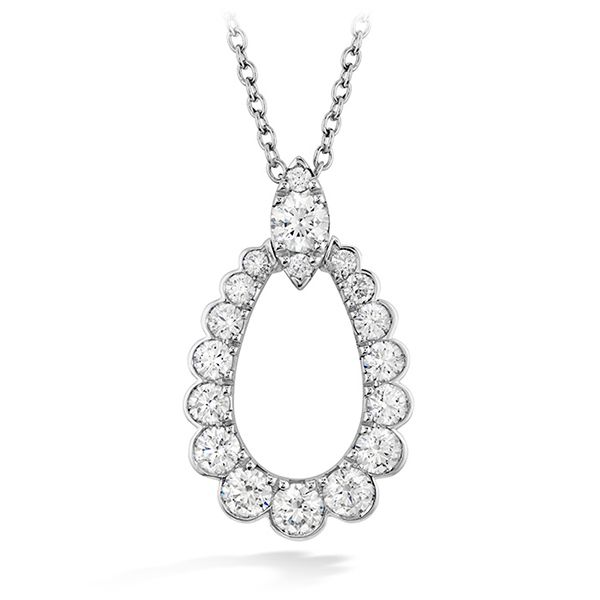 Hearts On Fire Aerial Regal Teardrop Diamond Necklace Goldstein's Jewelers Mobile, AL