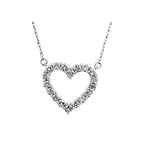 Diamond Heart Necklace Goldstein's Jewelers Mobile, AL