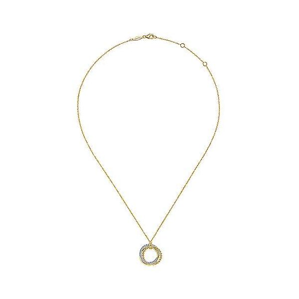 Gabriel Diamond Interlocking Circles Necklace Image 2 Goldstein's Jewelers Mobile, AL
