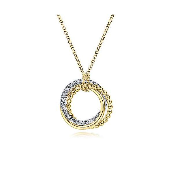 Gabriel Diamond Interlocking Circles Necklace Goldstein's Jewelers Mobile, AL