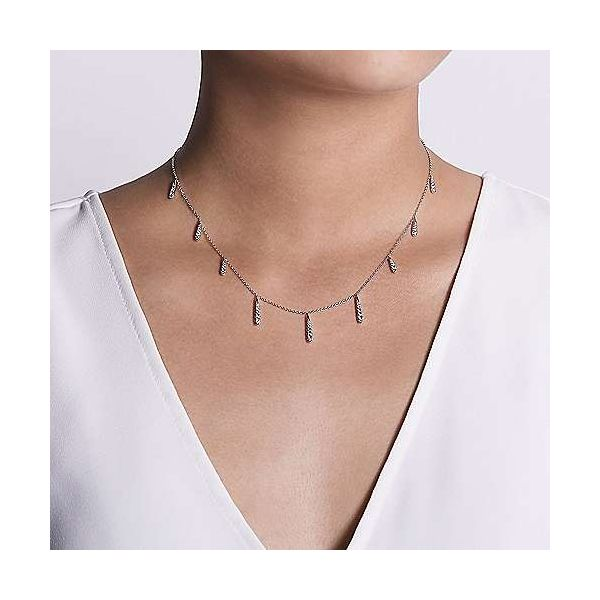 Gabriel Diamond Station Necklace Image 3 Goldstein's Jewelers Mobile, AL