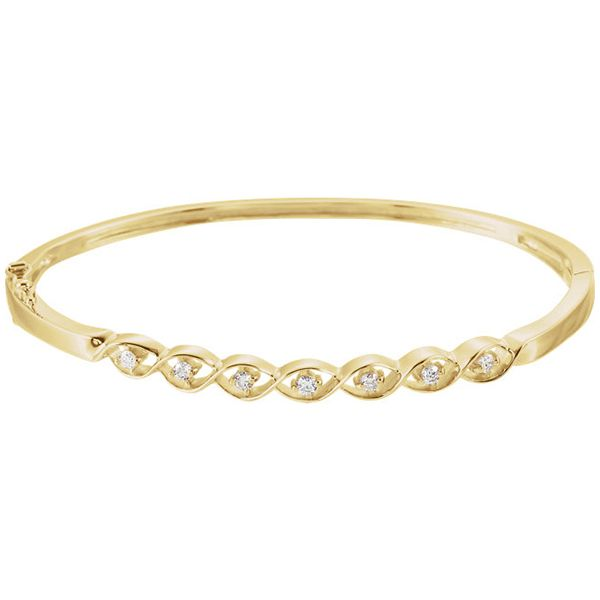Diamond Bangle Bracelet Goldstein's Jewelers Mobile, AL