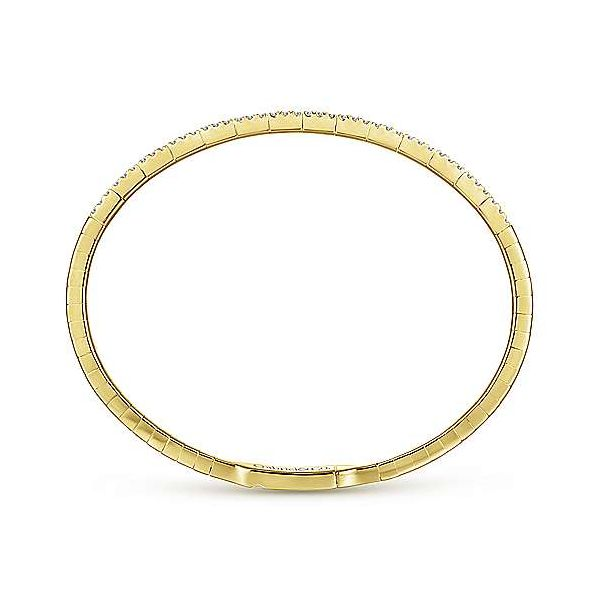 Gabriel Double Row Diamond Bangle Bracelet Image 3 Goldstein's Jewelers Mobile, AL