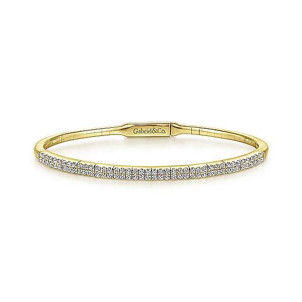 Gabriel Double Row Diamond Bangle Bracelet Goldstein's Jewelers Mobile, AL