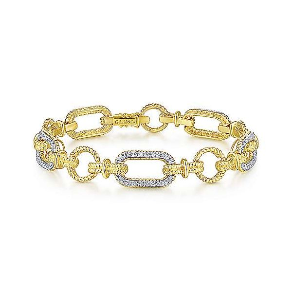 Gabriel Diamond Link Bracelet Goldstein's Jewelers Mobile, AL