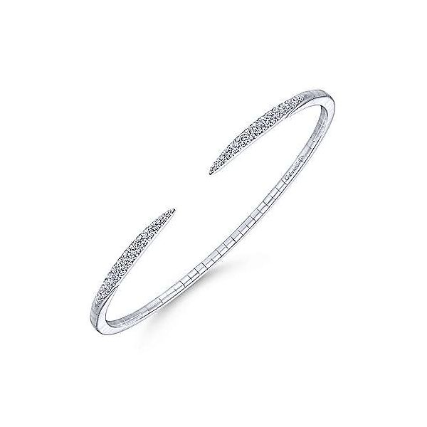 Gabriel Demure Diamond Split Bangle Bracelet Image 2 Goldstein's Jewelers Mobile, AL