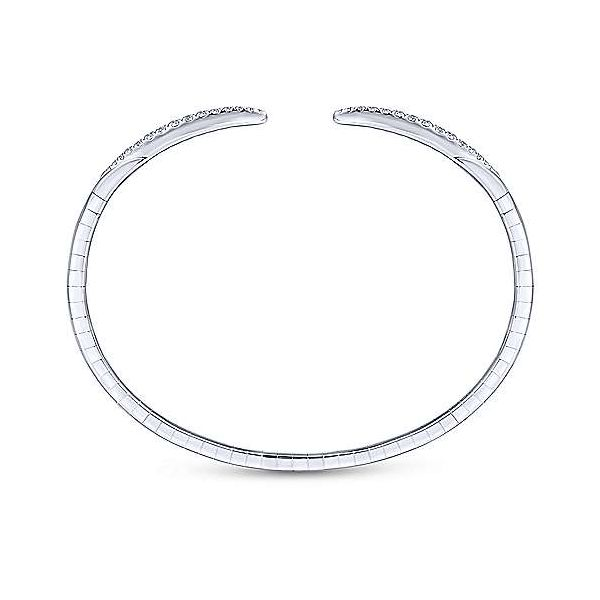 Gabriel Demure Diamond Split Bangle Bracelet Image 3 Goldstein's Jewelers Mobile, AL