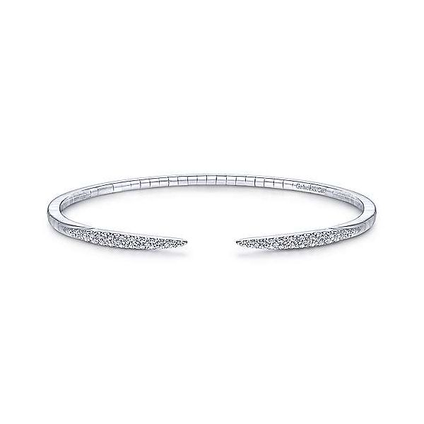 Gabriel Demure Diamond Split Bangle Bracelet Goldstein's Jewelers Mobile, AL