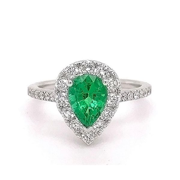 Emerald and Diamond Ring Goldstein's Jewelers Mobile, AL