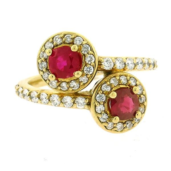 Ruby and Diamond Bypass Ring Goldstein's Jewelers Mobile, AL